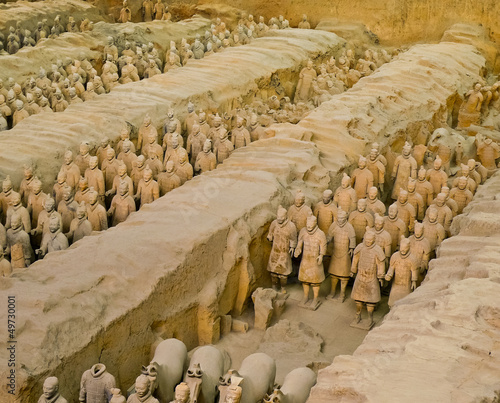 Montage in der Fensternische Xian Terracotta army