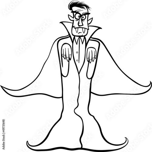 Fotografie, Obraz  dracula vampire cartoon for coloring book