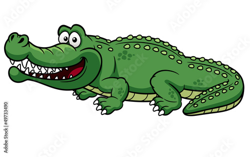 ilustracja-kreskowka-krokodyl-wektor