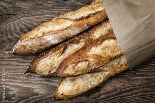 Fotografia, Obraz  Baguettes bread
