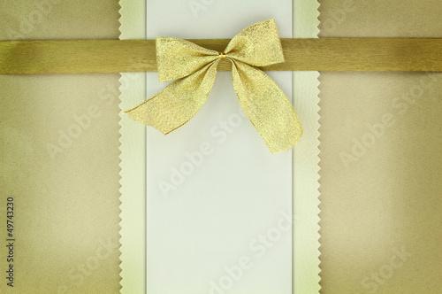 Golden greeting card on vintage background