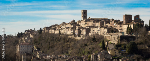 Photo  Panorama of Colle di Val d'Elsa, the city of crystal, Tuscany, I