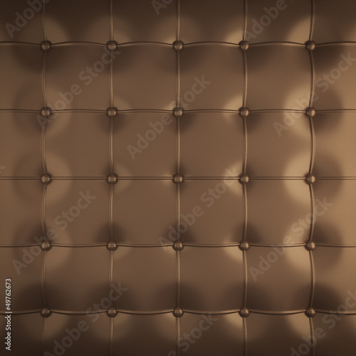 gold padded leather