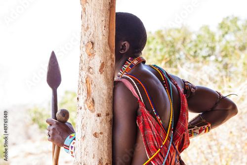 Staande foto Afrika Masai traditional costume