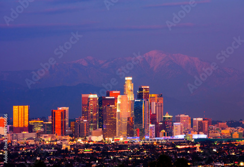 Foto op Plexiglas Los Angeles Los Angeles at night
