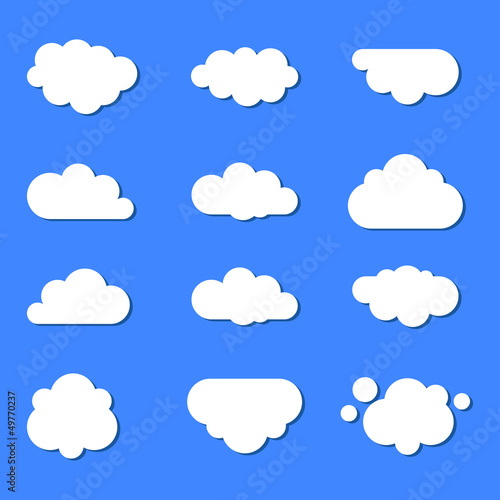 Printed kitchen splashbacks Heaven set of clouds in the sky