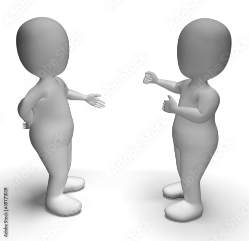 discussion between two people