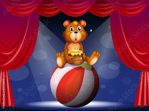 Door stickers Bears A circus show with a bear