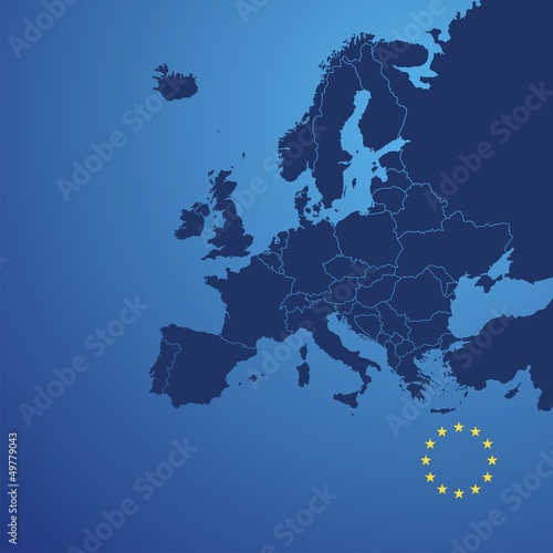 Obraz Europe map cover vector - fototapety do salonu