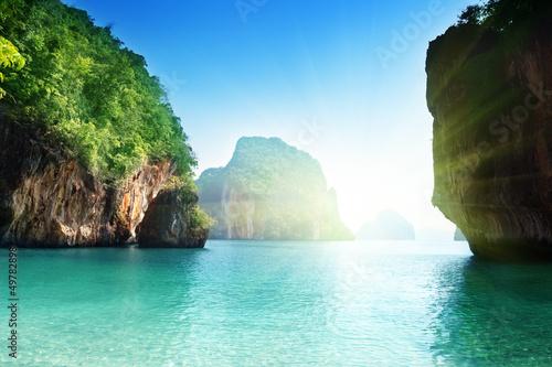 Foto op Aluminium Cathedral Cove beach of small island in Adaman sea, Krabi Province, Thailand