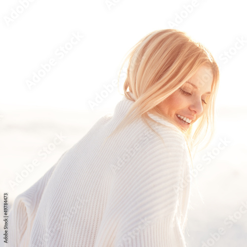Fotografie, Tablou  beautiful girl laughing on a sunny day