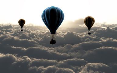 Obraz na Szkle Niebo air balloon on sky