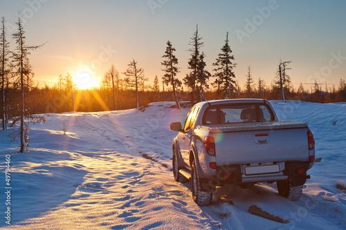 Obraz car and sun - fototapety do salonu