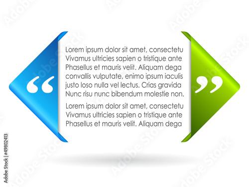 Fotografía  Vector citation symbol