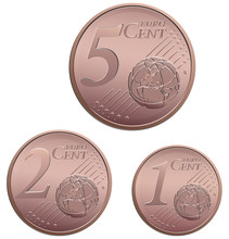 Vector Set Of Small Euro Cent ...