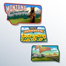 Montana, North Dakota, South D...