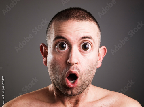 Caucasian man with surprised expression Fototapet