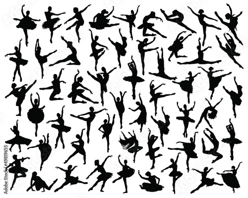 Fototapeta  Ballerina silhouette-vector