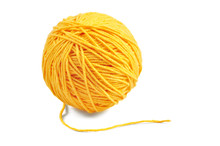 Yellow Yarn Ball