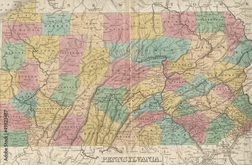 Keuken foto achterwand Wereldkaart old map
