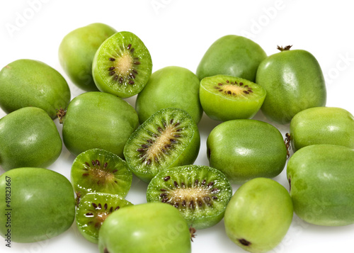 Kiwi Berry or Actinidia arguta Canvas Print