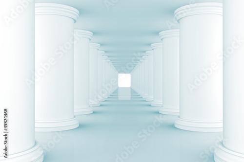 Obrazy powiększające wnętrze   niebieska-poswiata-w-tunelu