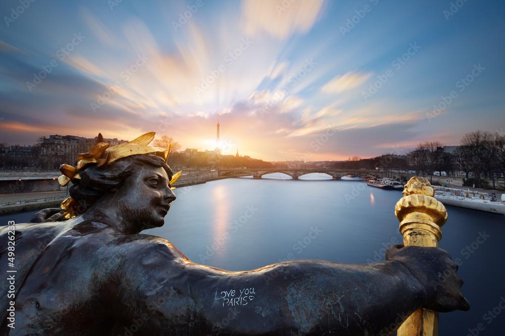 Fototapety, obrazy: Paris pont Alexandre III, Paris