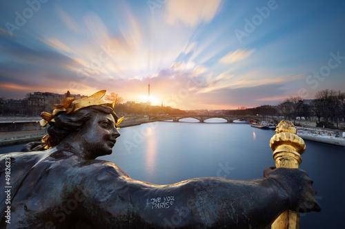 Obraz Paris Alexandre III Bridge, Paryż - fototapety do salonu