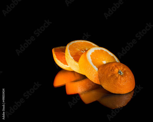 La pose en embrasure Tranches de fruits Orange