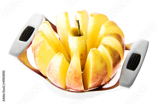Fotografie, Obraz  Fresh apple sliced with slicer