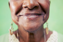 Old Black Woman, Close-up Of E...