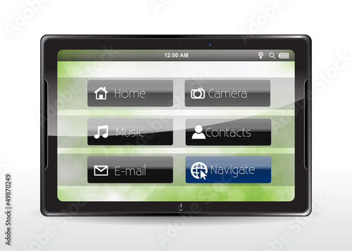 Tablet Concept With A Navigate Button Buy This Stock