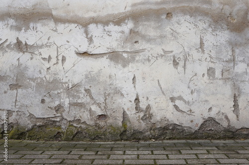 Canvas Prints Old dirty textured wall Marode Fassade
