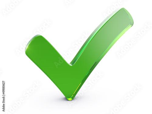 Fotografie, Obraz  Green checkmark