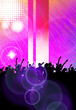 canvas print picture - Clubbing. Music event poster