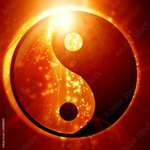 Fotografia  Yin Yang sign