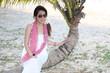 lady on Chaolao Beach