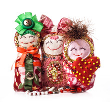 Handmade Rag Doll Isolated On ...