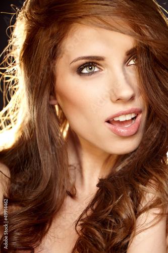 Fototapety, obrazy: Beautiful Romantic Woman portrait