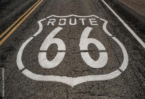 In de dag Route 66 route 66 roadway