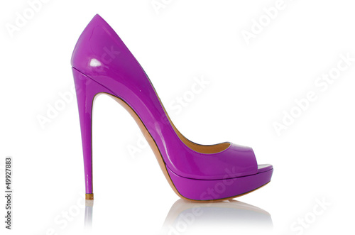 Fotografia, Obraz Woman shoes isolated on white