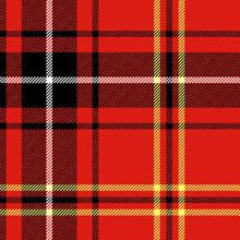 Red Tartan Traditional British...