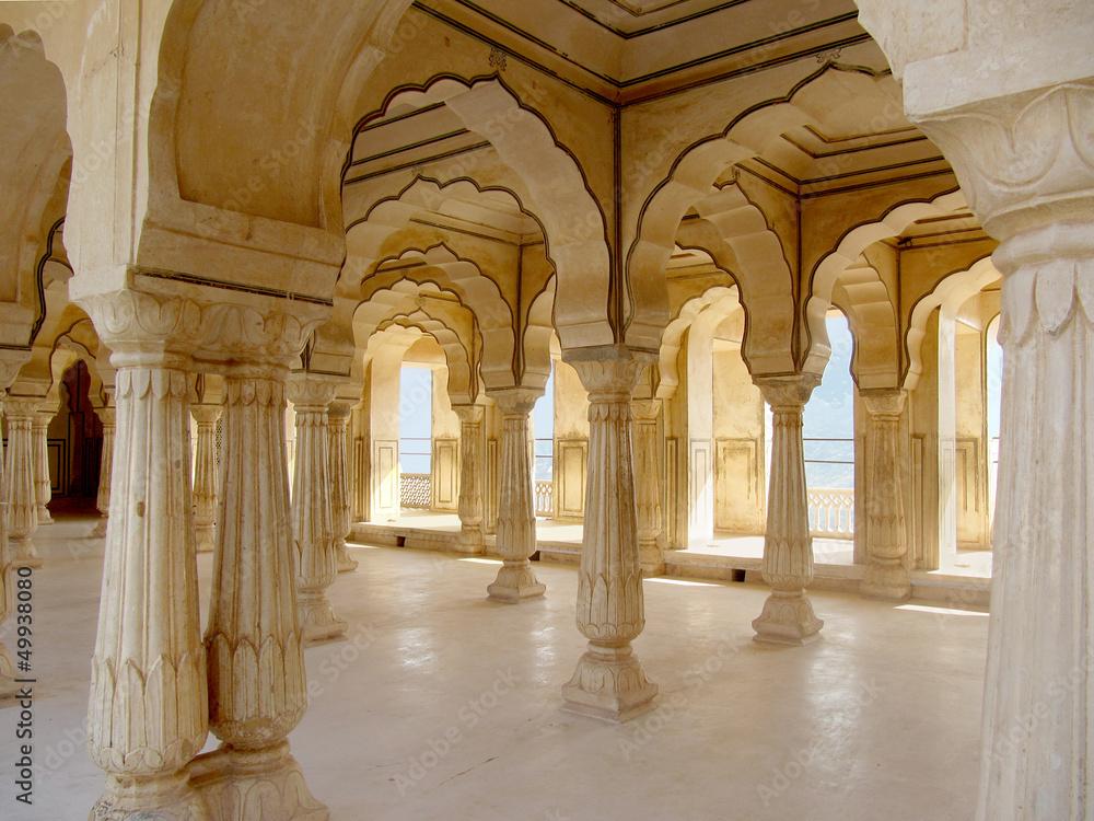 Säulenhalle Amber Fort