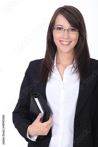 Businesswoman with agenda Wallpaper Mural