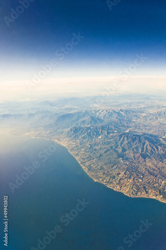 Fototapety, obrazy: Aerial view from an airplane / Aerial view