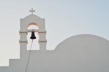 Greek Wedding Chapel At Sunrise