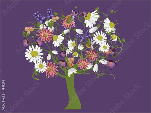 drzewo-kwiaty