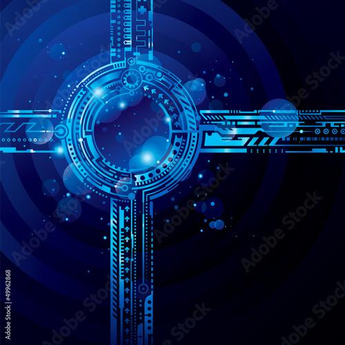 abstrakcjonistyczny-zaawansowany-technicznie-blekitny-tlo-z-lekkim-skutkiem