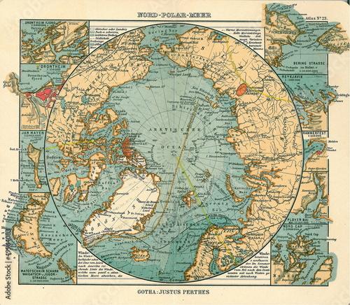 Fotografia Arctic old map