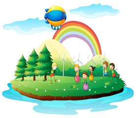 Djeca koja se igraju u zemlji